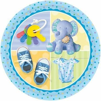 Assiettes Éléphant Bleu