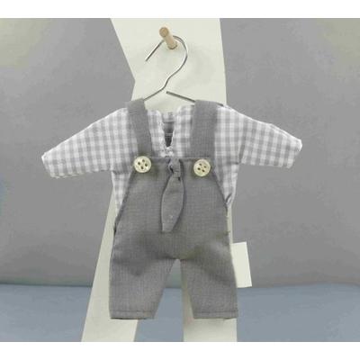 3 Salopettes avec chemise porte dragées grises