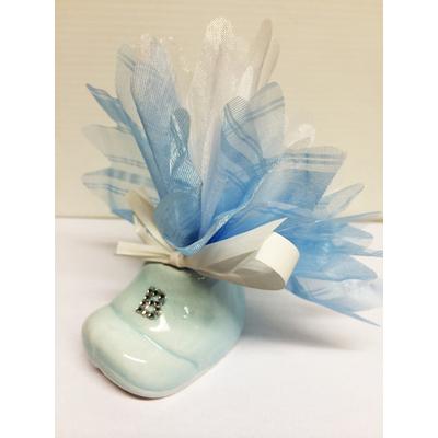 Ballotin dragées chausson bleu promo