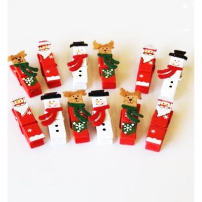 12 pinces thème Noel