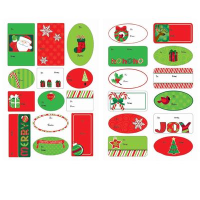 100 étiquettes adhésives Noel