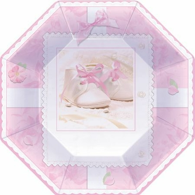 Assiettes Chaussons Roses