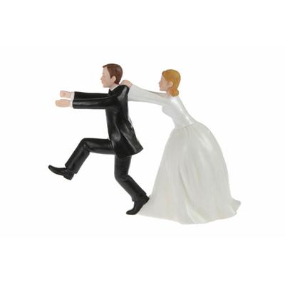 Couple de mariés en résine 15 cm courant
