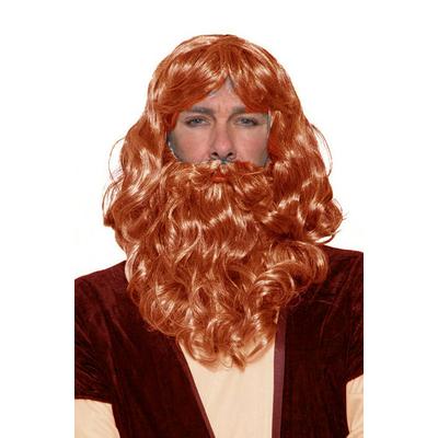Perruque et barbe roi mage rousse