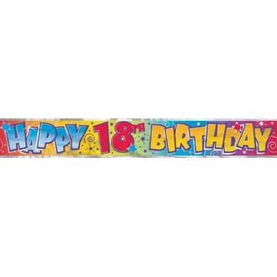 Bannière Métallisée Happy Birthday 18 Ans