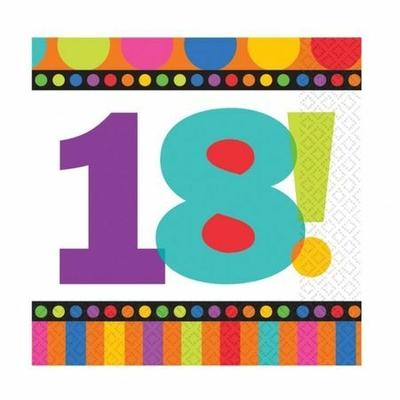 16 Serviettes Jetables 18 Ans
