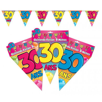 Guirlande fanions 30 ans