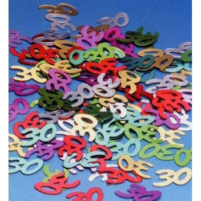 Confettis de Table Métallisés 30 Ans