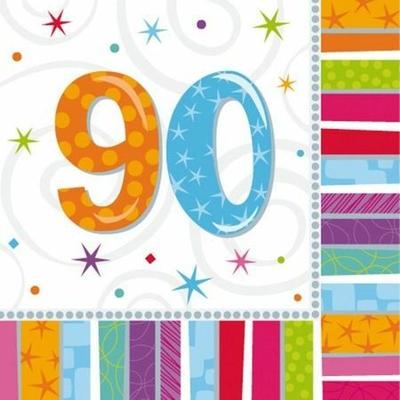 16 Serviettes Chiffre 90