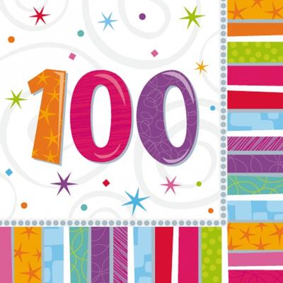 Serviettes 100 ans