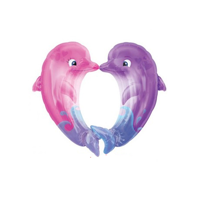 Ballon dauphins en coeur
