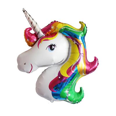 Ballon licorne rainbow 110 CM