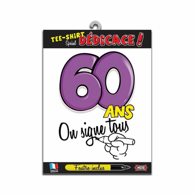 Tee shirt dédicace anniversaire 60 ans