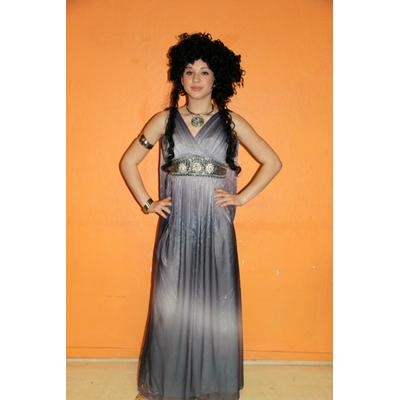 Costume luxe de déesse grecque grise