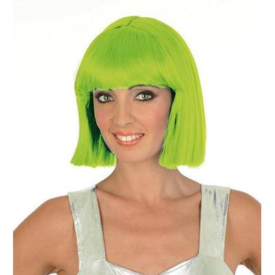 Perruque crazy vert fluo
