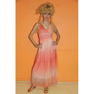 Costume luxe de déesse grecque saumon
