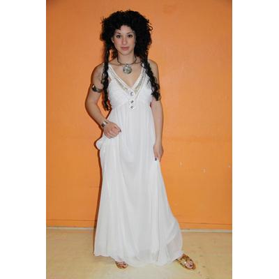 Costume luxe de grecque blanche