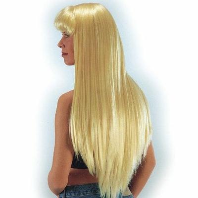 Maxi Perruque Blonde Avec Frange