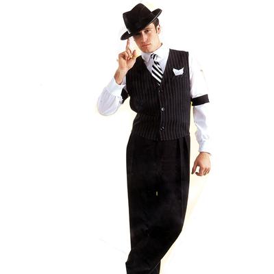 Pantalon de gangster Al Capone noir