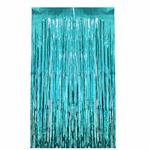 rideau-disco-metallique-turquoise