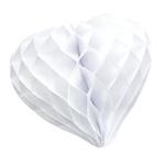 coeur papier alveole blanc