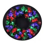 couronne de noel avec leds multicolores