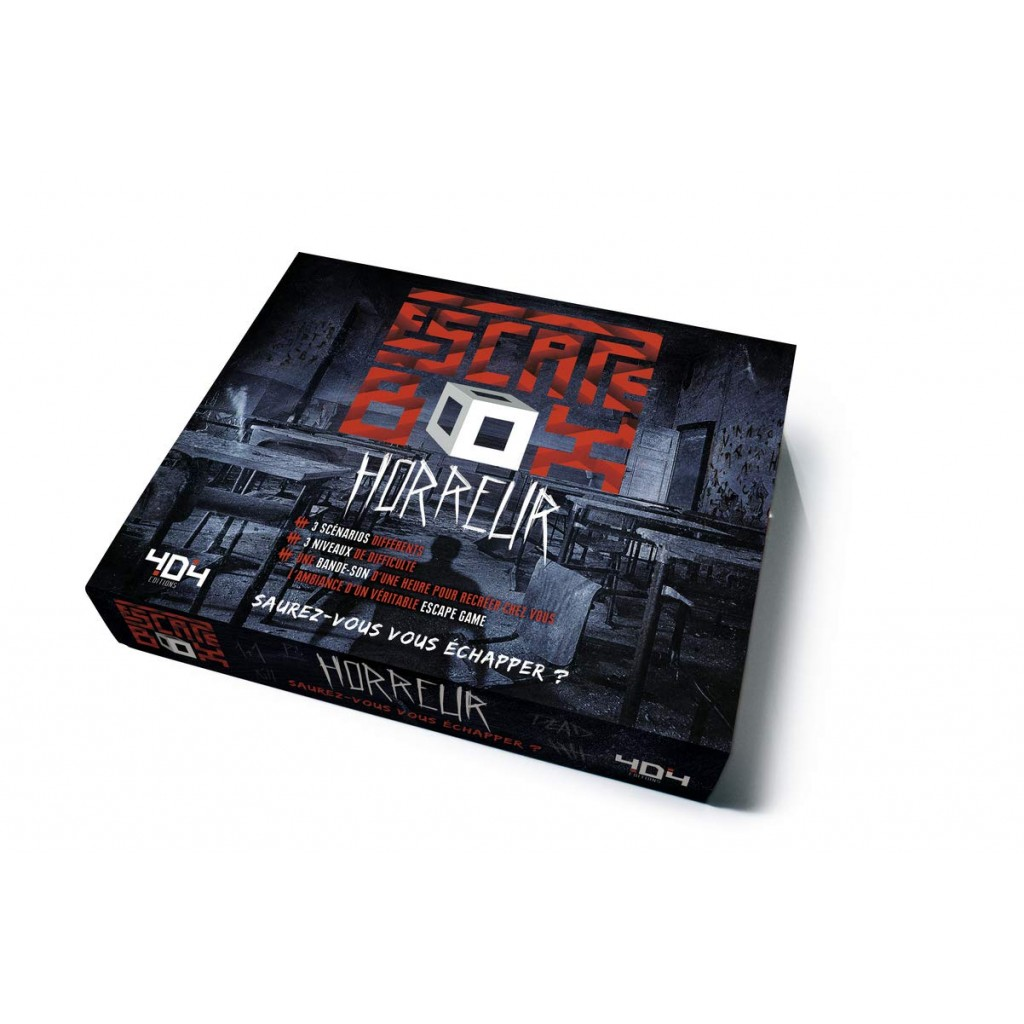 Escape box- Horreur - Escape Games - Jeu de société d'évasion - Escape rooms - Great Escape