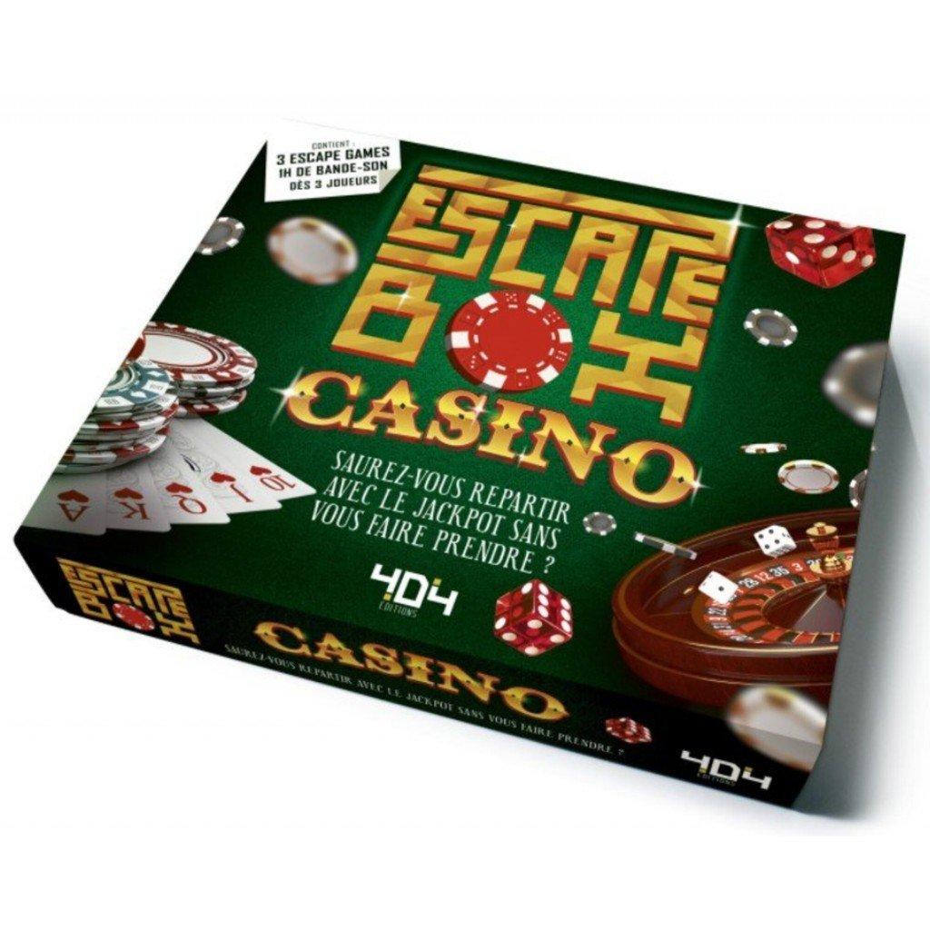 Escape box- casino - Escape Games - Jeu de société d'évasion - Escape rooms - Great Escape