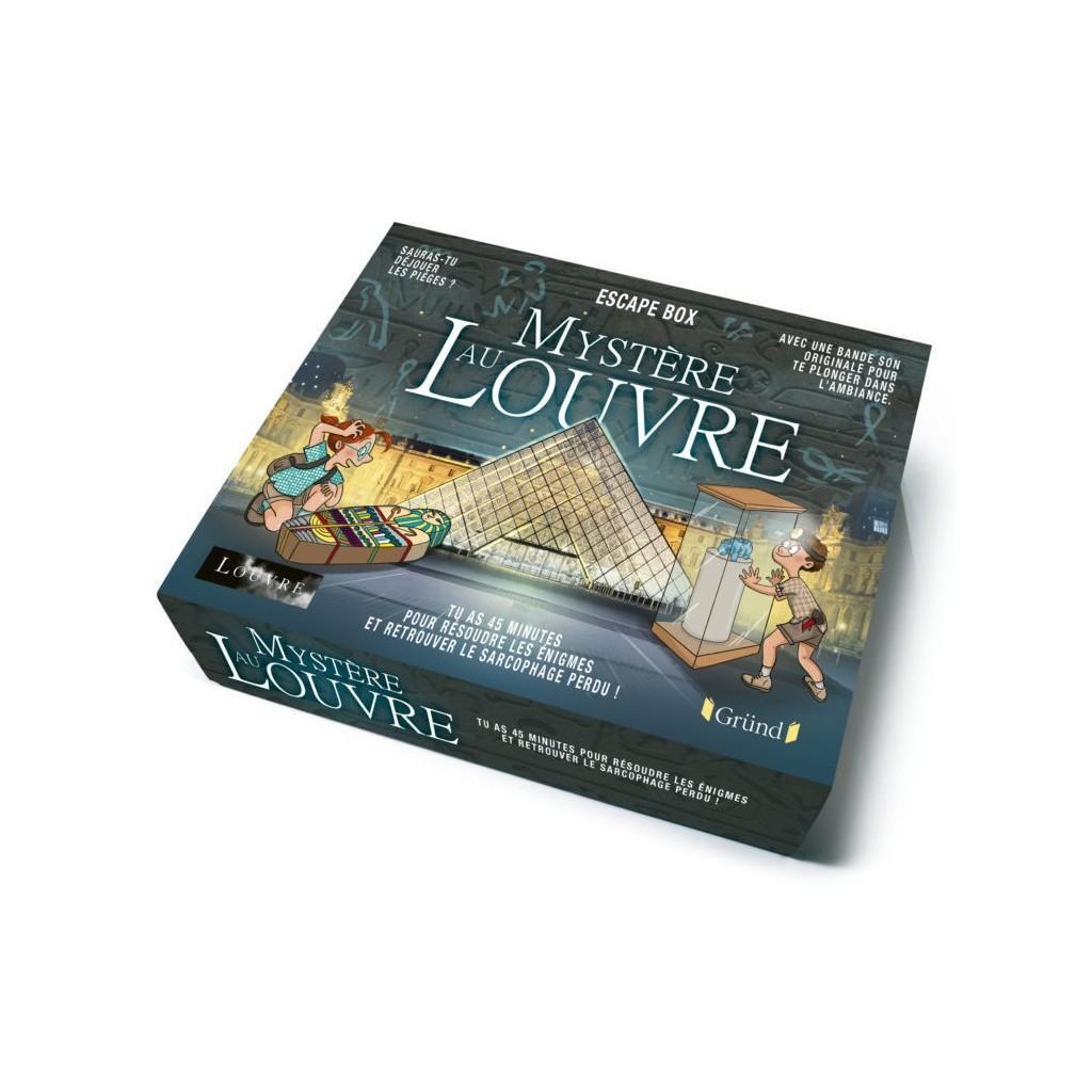 Escape box- Mystère au musée du Louvre - Escape Games - Jeu de société d'évasion - Escape rooms - Great Escape - Front