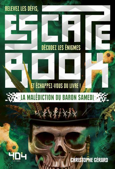 Escape book- La malédiction du baron samedi - Escape Games - Jeu de société d'évasion - Escape rooms - Great Escape - front