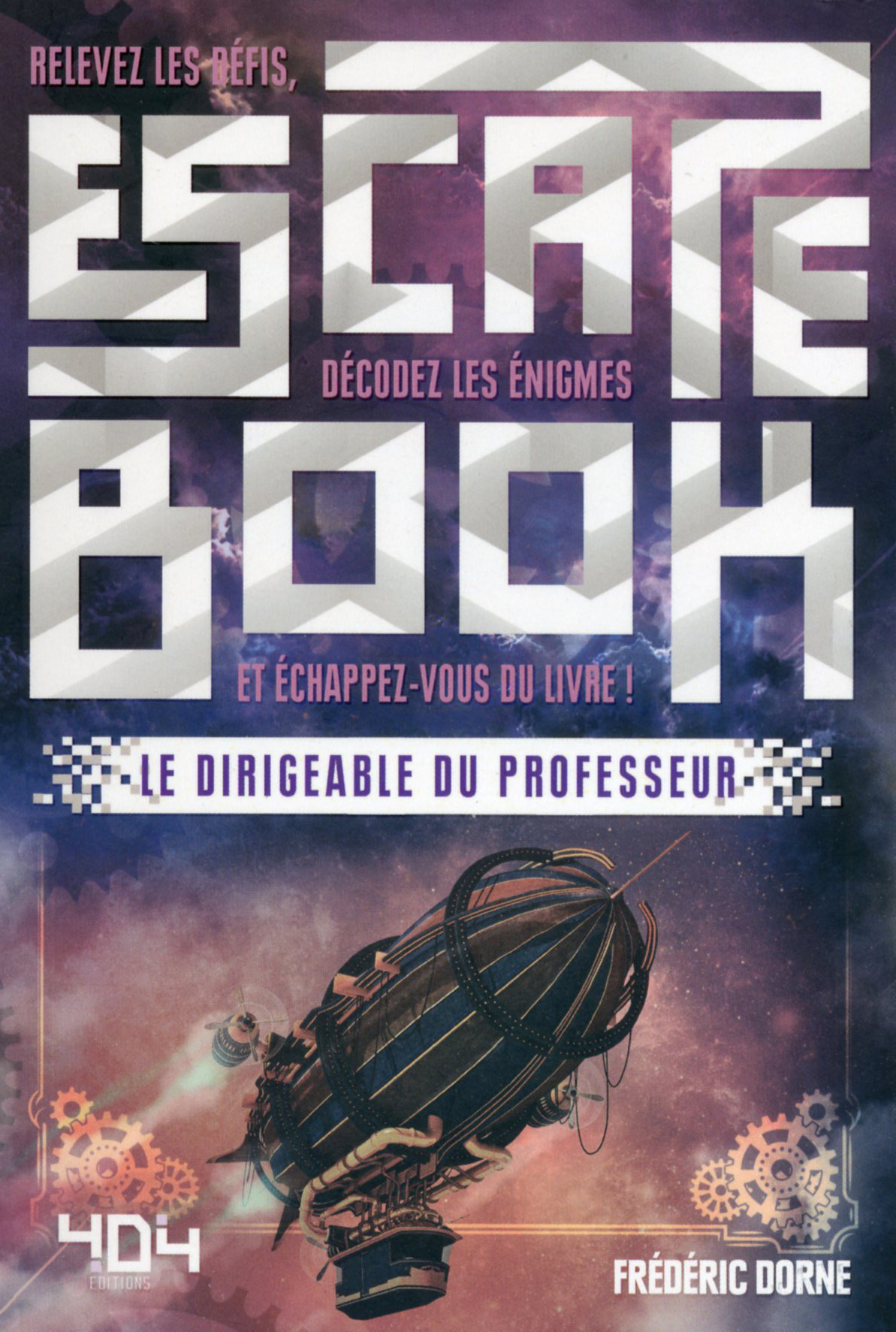 Escape book- Le dirigeable du professeur - Escape Games - Jeu de société d'évasion - Escape rooms - Great Escape - Large