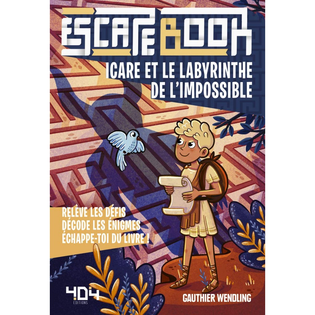 Escape book- Icare et le labyrinthe de l'impossible - Escape Games - Jeu de société d'évasion - Escape rooms - Great Escape