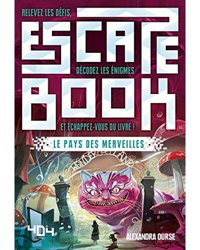 Escape book- le pays des merveilles - Escape Games - Jeu de société d'évasion - Escape rooms - Great Escape - front