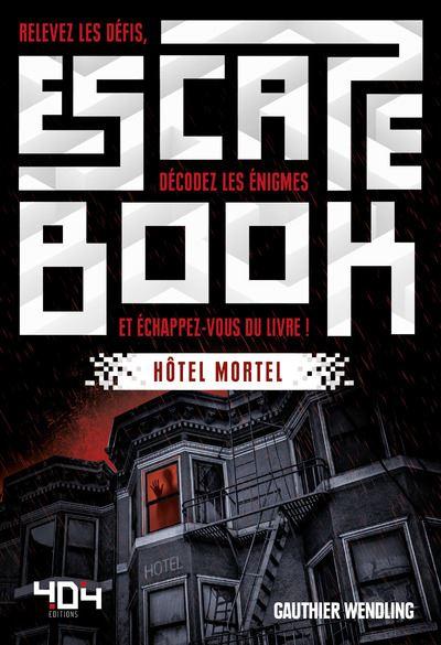 Escape book- hôtel mortel - Escape Games - Jeu de société d'évasion - Escape rooms - Great Escape - front