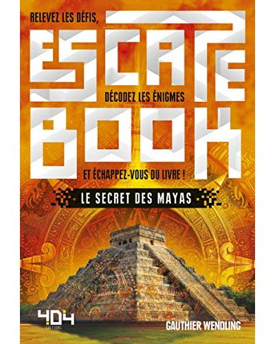 Escape book- le secret des mayas - Escape Games - Jeu de société d'évasion - Escape rooms - Great Escape