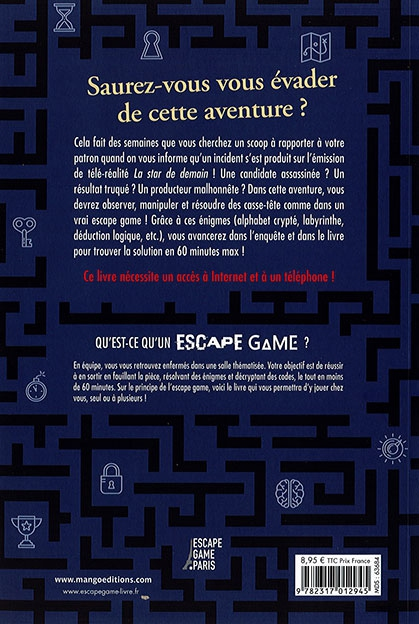 Casting mortel - verso - Escape Game - Great Escape version 4