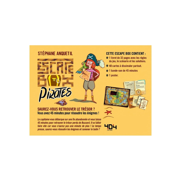 Escape box- Pirates - Contenu - Escape Games - Jeu de société dévasion - Escape rooms - Great Escape