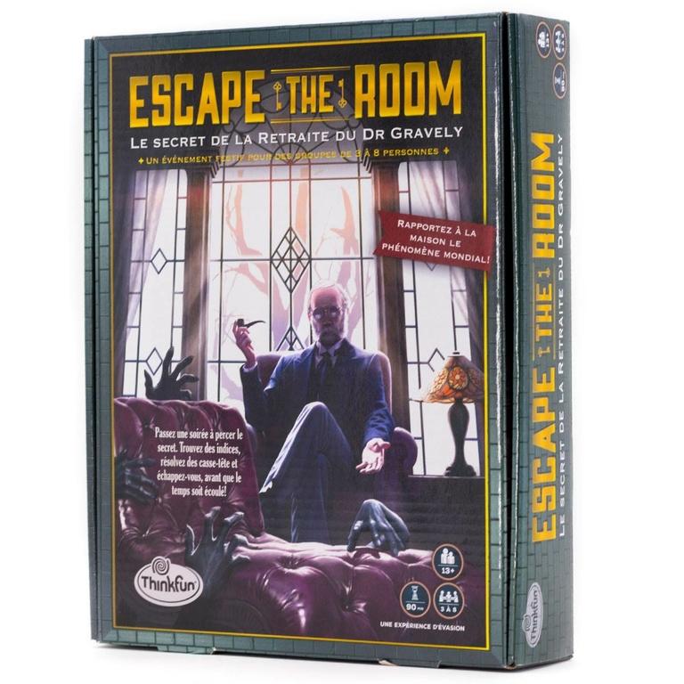 Escape The Room - Le secret de la retraite du Dr Gravely - Boîte - Escape Games - Jeu de société Escape Games - Escape rooms