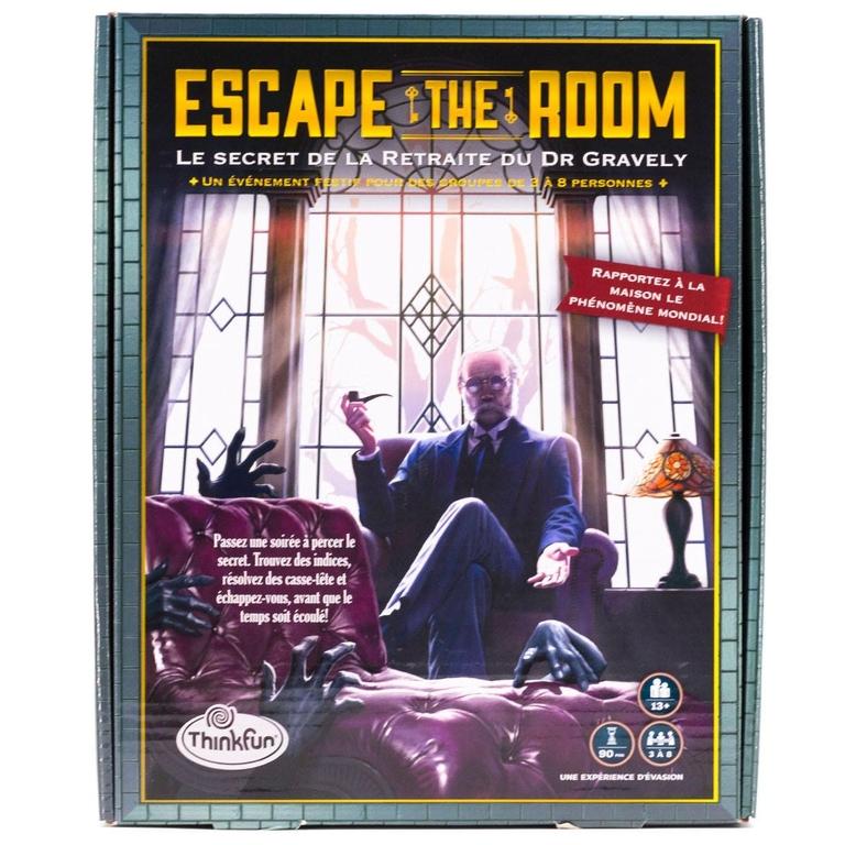 Escape The Room - Le secret de la retraite du Dr Gravely - Recto - Escape Games - Jeu de société Escape Games - Escape rooms