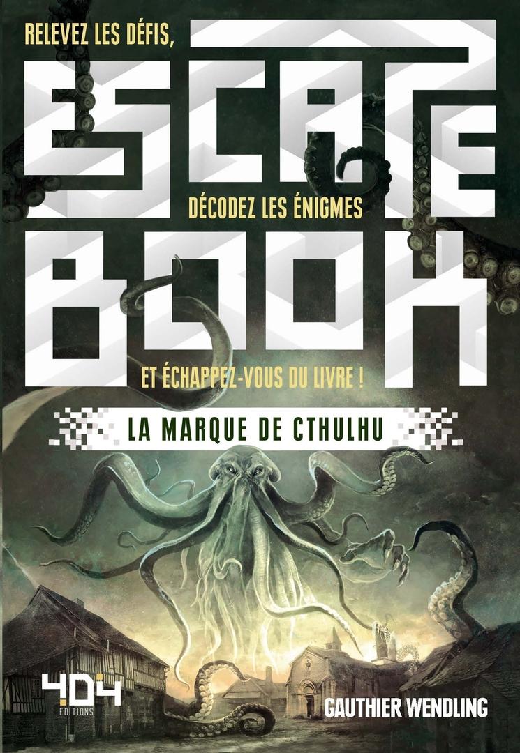 Escape book- La marque de Cthulhu - Escape Games - Jeu de société d'évasion - Escape rooms - Great Escape - Large
