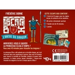 Escape box- Lantre du dragon - Escape Games - Jeu de société dévasion - Escape rooms - Great Escape - back