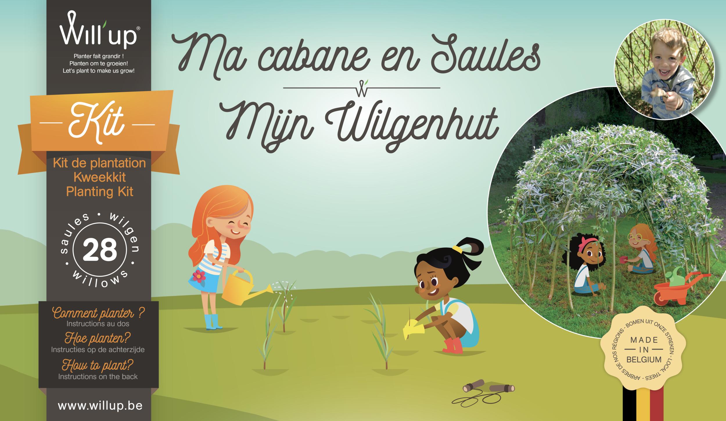 Ma Cabane en saule (Willup) (kit Belgique)