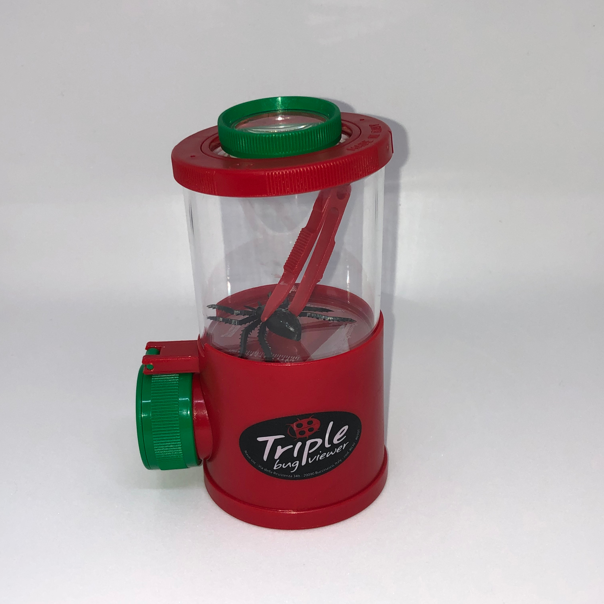 Boîte loupe insecte triple Navir rouge