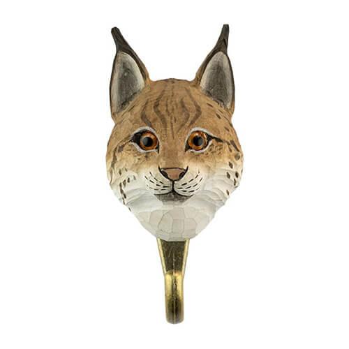 Patere-crochet-wildlifegarden-lynx-eurasique-avant