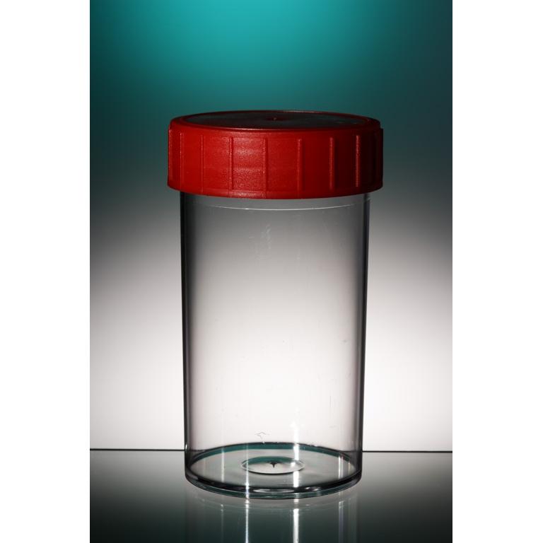 Pot en plastique avec bouchon - 40 ml