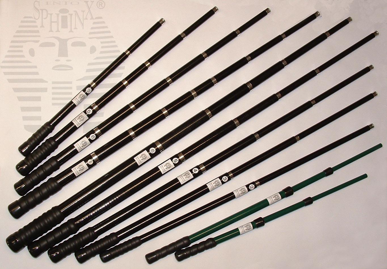 Manche télescopique en fibre de verre