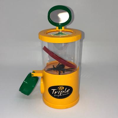 Boîte loupe insecte triple Navir jaune