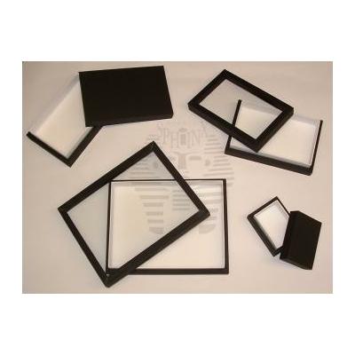 Boîtes à insectes vitrées - bois + reliure noire 40x50