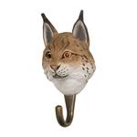 Patere-crochet-wildlifegarden-lynx-eurasique-deux-tiers
