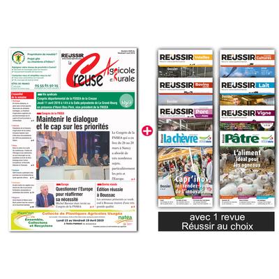 La Creuse agricole + 1 revue Réussir